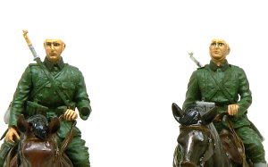 ドイツ・第1騎兵師団 フィギュアの顔と手の塗装