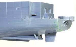護衛空母CVE-73ガンビアベイ 船体の組立て