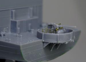 護衛空母CVE-73ガンビアベイ 主砲の5インチ砲