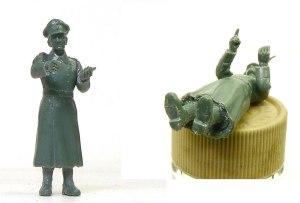 ドイツ・将校セット コートを着た将校の組み立て