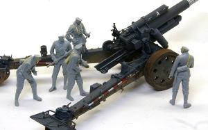 ドイツ・野戦榴弾砲兵 レイアウトの確認