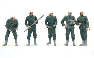 ドイツ・野戦榴弾砲兵 顔の塗装