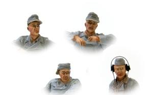 ドイツ・自走砲搭乗員セット 顔の塗装