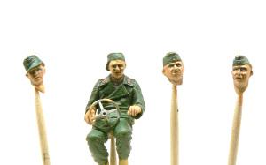 ドイツ・自走砲兵 Vol.2 顔の塗装