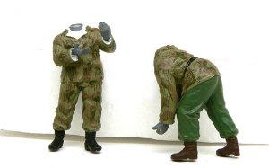 ドイツ・自走砲兵セット 迷彩服を手書き