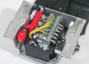 エンジンルームの補器の制作