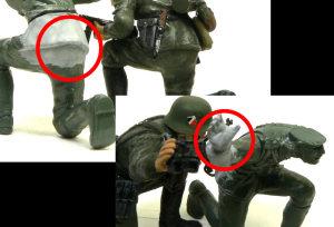 ハノマーグ兵員輸送車 付属の人形の組立て