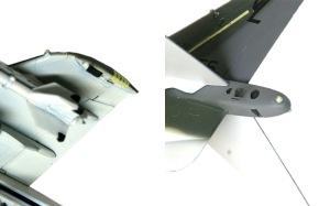 AV-8Bハリアー2 翼端のズルを塗る