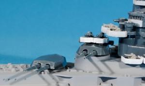 主砲塔の組立て