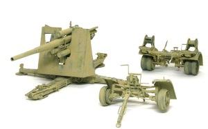 Hell Fire (B) 8.8cm対空砲Flak18のサンド塗装を剥がす