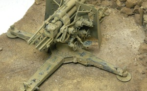 Hell Fire (B) 8.8cm対空砲Flak18 上から見ると結構剥げてる