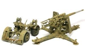 Hell Fire (B) 8.8cm対空砲Flak18のデカール貼り