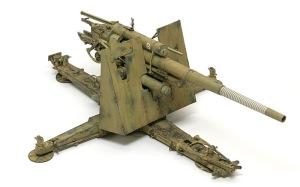 8.8cm対空砲Flak18 ウエザリング