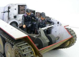 ヘッツァー駆逐戦車 戦車兵を乗せてみた