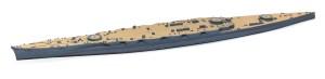戦艦比叡 船体と甲板の塗装