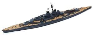 日本海軍・戦艦比叡 艦橋以外の組立て