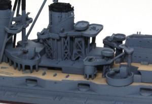 戦艦比叡 中の埋まったトラスに影を入れる