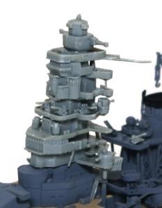 戦艦比叡 艦橋の組立て