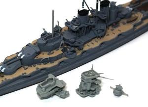 戦艦比叡 艦橋を分解塗装