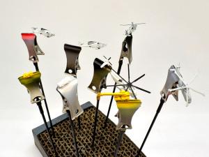 デカールの乾燥待ちにヘリなどのアクセサリーを塗装