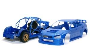 スバル・インプレッサWRC2004 整形したボディ