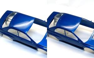 スバル・インプレッサWRC2004 ボディの塗装