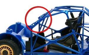 スバル・インプレッサWRC2004 パーツの軽め穴