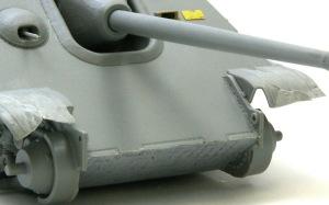 ヤクトパンターG1初期型 車体前部の工作