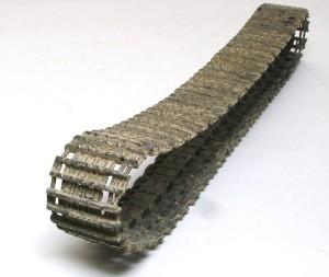 ヤクトティーガー・ポルシェタイプ 履帯接地部の銀ブラシ