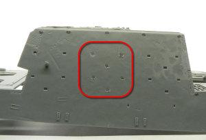 ヤクトティーガー ヘンシェルタイプ 予備履帯フックの追加