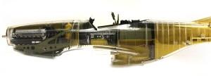 P-51Dマスタング4 磨いたクリアボディ