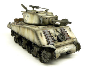 M4A3E2シャーマン・ジャンボ ウエザリングと細部の塗分け