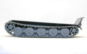 ケーニヒスティーガー・ヘンシェル砲塔 履帯の組み立て
