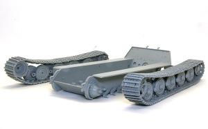 ケーニヒスティーガー・ヘンシェル砲塔 ロコ組の足まわり