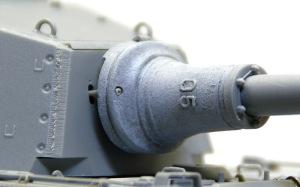 ケーニヒスティーガー・ヘンシェル砲塔 主砲のディテールアップ