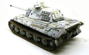 ケーニヒスティーガー ポルシェ砲塔 履帯の取り付け
