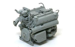ケーニヒスティーガー・ヘンシェル砲塔 エンジンの組み立て