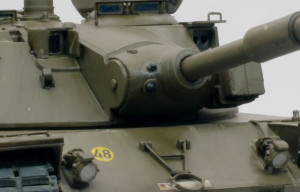 主砲防盾の追加工作