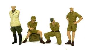 キューベルワーゲン・ロンメル野戦指揮 付属の人形の下塗り