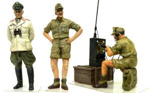 キューベルワーゲン・ロンメル野戦指揮 付属の人形の仕上げ
