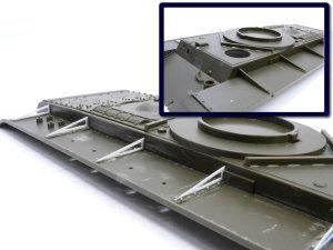 ソビエト重戦車・KV-2ギガント フェンダーのディテールアップ
