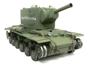 ソビエト重戦車・KV-2ギガント 抹茶色で塗装