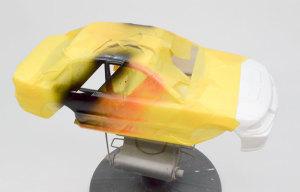 ランサーGSRエボリューション3 ボディのマスキング