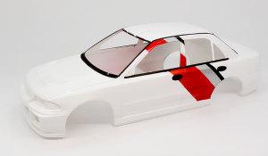 ランサーGSRエボリューション3 ボディの塗分け