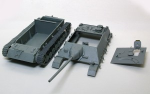 4号駆逐戦車L/70(V)ラング 塗装のために数パーツに分解可能