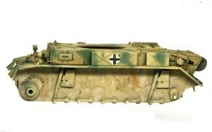 2号戦車L型ルクス ピグメントを塗って乾かす