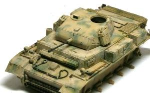 2号戦車L型ルクス 車体上部のウエザリング