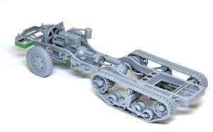 M16多連装銃搭載車 シャーシの組み立て