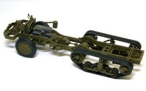 M16多連装銃搭載車 シャーシの塗装