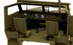 M16多連装銃搭載車 ダッシュボードの塗分け